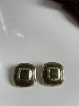 Nr 3438 oorslips groen en goud