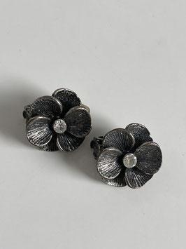 Nr 0897 metalen oorclips vintage