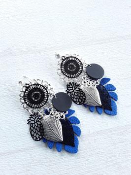 Boucles plateaux bleues/noires