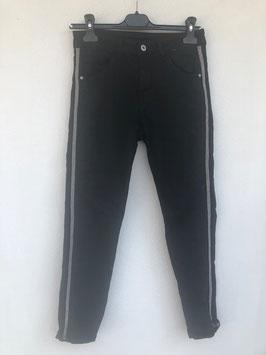Steifen Jeans schwarz