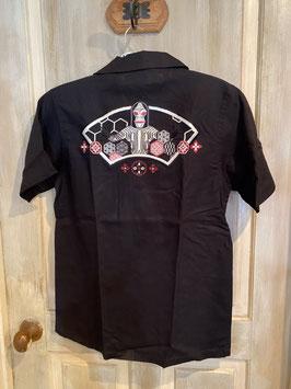 ダダと和模様  刺繍  半袖  シャツ