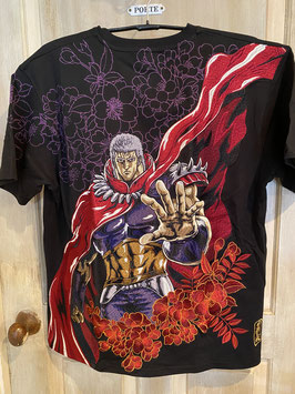 北斗の拳 ラオウ(世に覇者はひとり!!)刺繍 半袖Tシャツ