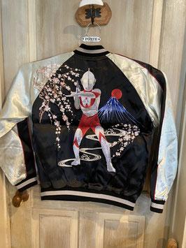 桜とウルトラマン  刺繍 スカジャン