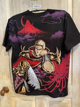 北斗の拳 将星サウザー 刺繍 半袖Tシャツ