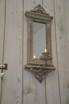 Shabby-Chic Spiegel mit Kerzenhalter