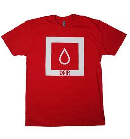 DRIP Skateboards - Logo Shirt red (L & XL Left)