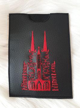 Impfpasshülle Kölner Dom schwarz/rot
