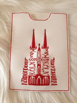 Impfpasshülle Kölner Dom weiß/rot