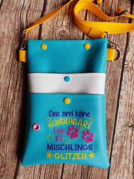 Gassi Tasche Mischlings-Glitzer Gurt Gelb