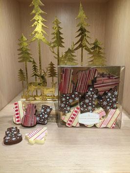 Caraques de Noël en chocolat
