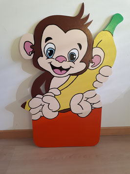 Nr.49 Äffli mit Banane Variante orange