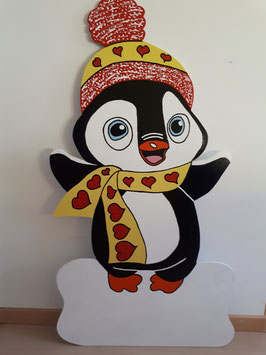 Nr.11 Pinguin mit Schal & Mütze