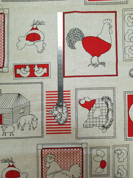 Poules patch rouge