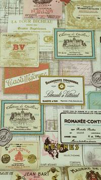 Etiquettes de vin pastels
