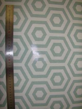 Hexagones Verts pvc brillant
