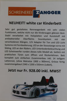 white car Kinderbett