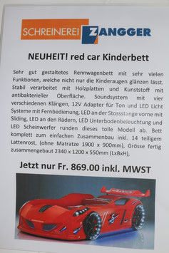 red car Kinderbett
