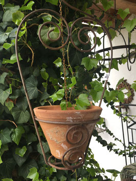 Hängepflanztopf Eisen mit Terracottatopf