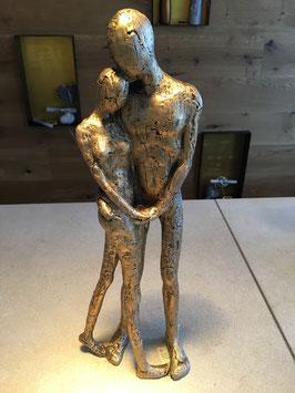 Mann und Frau als Paar goldbronzefarben