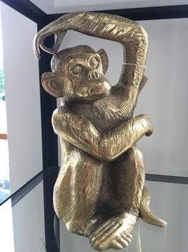 Affe gold Aluguß