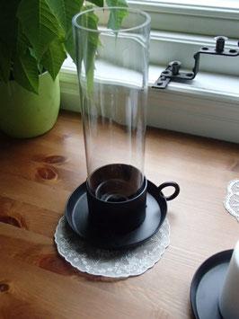 Ljusstake med glascylinder / ガラスカバー付きアイアンキャンドルスタンド
