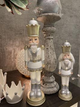 Formano Nussknacker weiß champagner silber Figur Winter edel