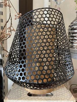 Formano edle Lampe Tischleuchte Welle Metall schwarz gold zauberhaft stimmungsvolles Licht
