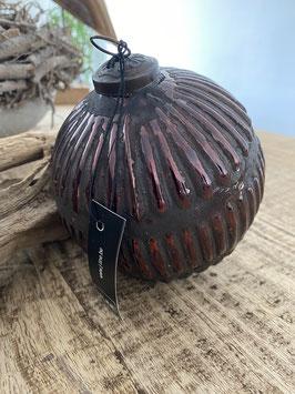 J-LINE Baum-Kugel Deko Weihnachten Baum Tisch braun Antik shabby