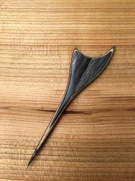 Haarspieß Furnierholz grau