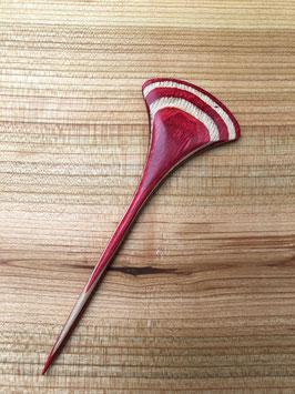 Haarspieß Furnierholz rot
