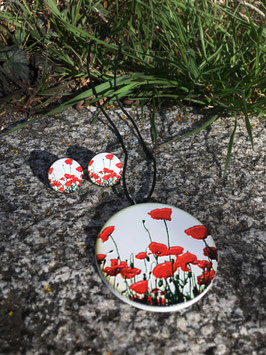 Schmuckset Mohnblüten