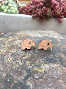 Holzohrstecker Elefant