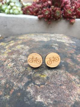 Holzohrstecker Fahrrad