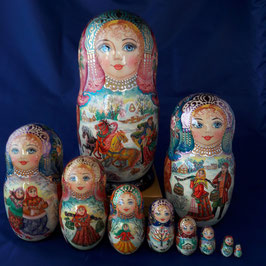 "Matroschka  10-teilig""Winter-           liebe"""