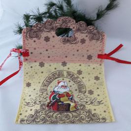 """Tasche-Beutel """"Weihnachts-               geschenk"""" gelb"""