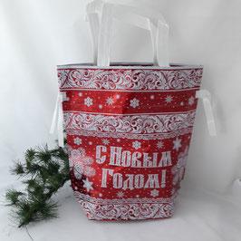 """Tasche- Beutel """"Frohe Weihnachten"""" rot"""