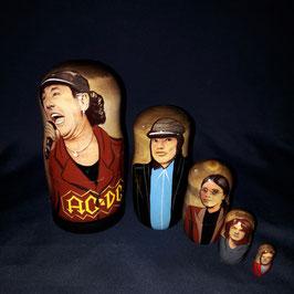 "Matroschka 5 teilig  ""AC/DC"""