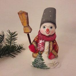 Schneemann mit dem Eimer auf dem Kopf