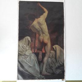 """Handgemalte Kunstkopie von Gemälde """"Charon Überführung der Shades"""" von Pierre Subleyras (1735)"""