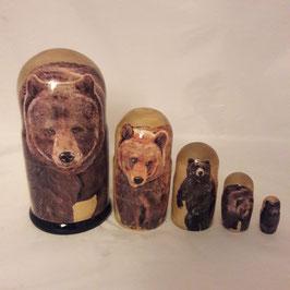 """Matroschka 5 tlg groß Motiv """"Bären"""""""