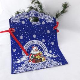"""Tasche-Beutel """"Weihnachts-              geschenk"""" blau"""
