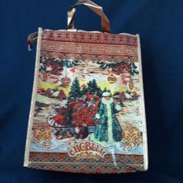 """Tasche """"Weihnachts-             mann mit Schnee-                  mädchen"""""""