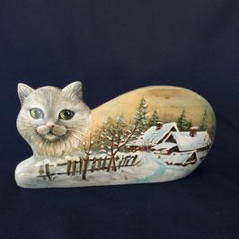 """Holzschnitzerei """"Katze. Winter"""""""