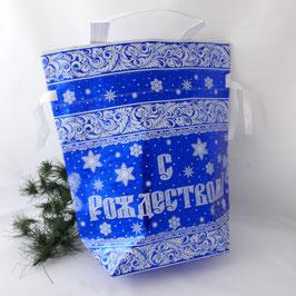 """Tasche- Beutel """"Frohe Weihnachten"""" blau"""