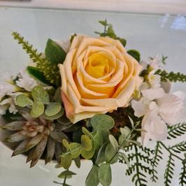 Rosengesteck gelb/weiß