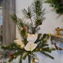 Lichterstrauß mit Amaryllis in weiß, apricot