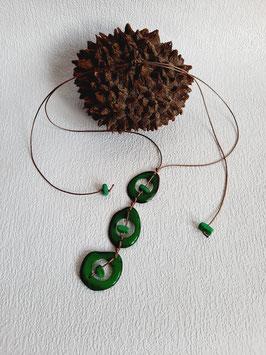 """Halskette """" Trio  Verde """""""