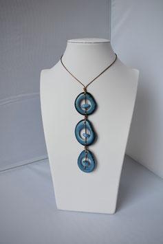 """Halskette """" Trio  Azul"""""""