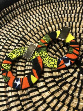 Boucles D'Oreilles Créolia - Jaune et Orange