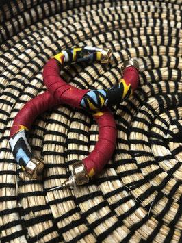 Boucles d'Oreilles Luna - Rouge Flammes